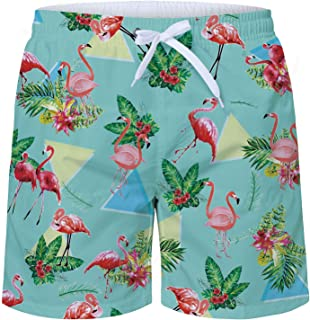 c8cc83c77d Goodstoworld Mens Swimming Shorts Funky 3D Printed Quick Dry Swim Trunks  Beach Shorts