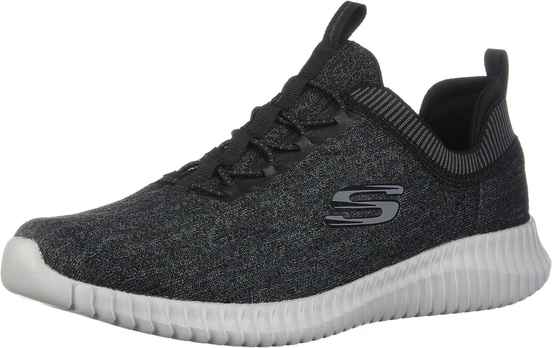 Skechers Elite Flex - Hartnell noir gris Pour des hommes paniers Taille 8.5W