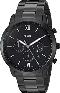 Fossil Men's Neutra Chrono Quartz Stainless-Steel-Plated Strap, Black, 22 Casual Watch (Model: FS5474