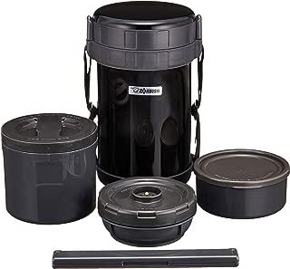象印 ( ZOJIRUSHI ) 保温弁当箱 ステンレスランチジャー ブラック【大容量お茶わん約4杯分】 SL-XD20-BA