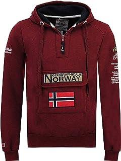 Geographical Norway GYMCLASS Men - Sweat À Capuche Poche Kangourou Homme - Sweatshirt Logo Homme Pull Hood Veste - Sweat S...