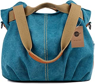 be616f7b29 Z-joyee Women s Ladies Casual Vintage Hobo Canvas Daily Purse Top Handle  Shoulder Tote Shopper