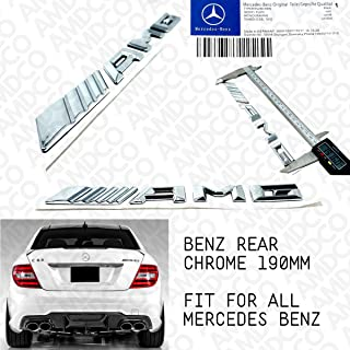 AMD - AMG CHROME Emblem Badge Stickers Decals with Strong 3M Includes instructions MEASURE Before Purchase Fitment Top Qua...