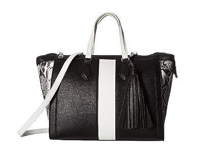 Steve Madden Bjean (Black/White) Tote Handbags