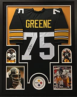aa3039b1c6c Joe Greene Pittsburgh Steelers Autograph Signed Custom Framed Jersey HOF  Inscribed JSA Witnessed Certified