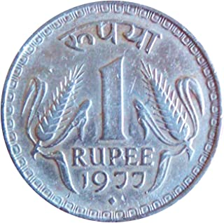 Very Old Indian 1977 Year 1Rupee Coin