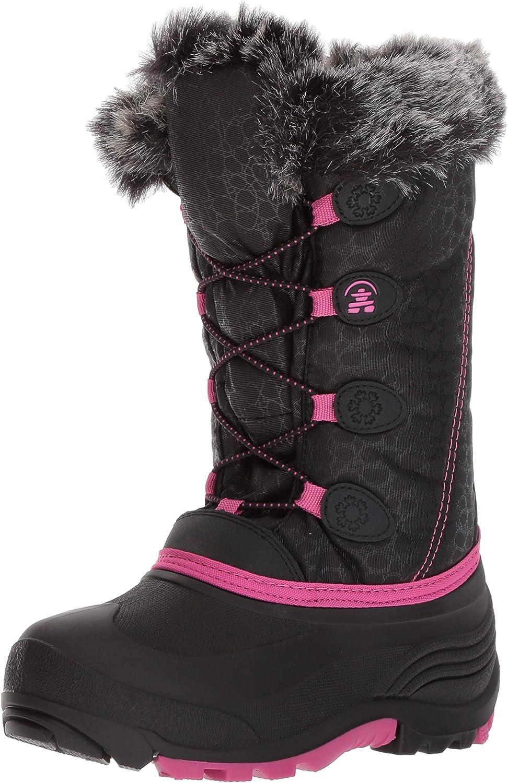 Kamik Kids' Snowgypsy Snow Stiefel, schwarz Magenta Bmm, 8 Medium US Toddler
