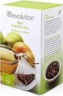 Revolution Tea - Pear White Tea | Premium Full Leaf Infuser Stringless Teabags - Antioxidant Boost (16 Bags)