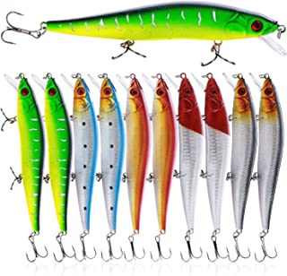 Sougayilang Fishing Lures Large Hard Bait Minnow VIB Lure with Treble Hook Life-Like..