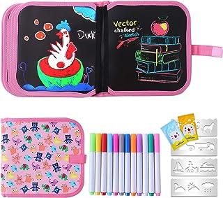 Ulikey Enfant Doodle Planches, Enfant Dessin Livre Effaçable Réutilisable, Tableau de Dessin, Bloc de Dessin, Planche de G...