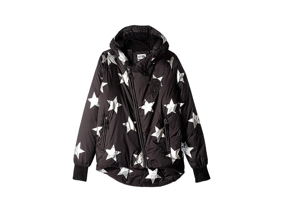 Nununu Silver Star Down Jacket (Little Kids/Big Kids) (Black) Girl