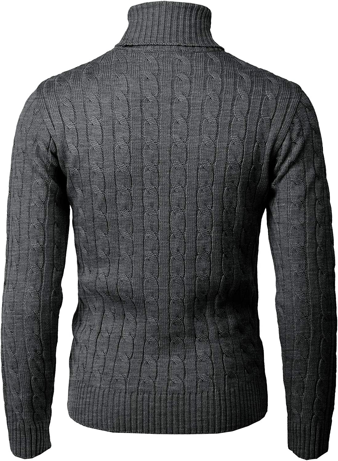 H2H Mens Casual Slim Fit Pullover Sweaters Knitted Turtleneck Thermal Various Patterned