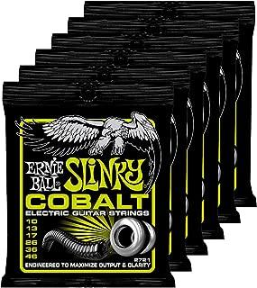 Ernie Ball 2721 Cobalt Regular Slinky Electric Guitar Strings for Maximize Output & Clarity - Set of 6
