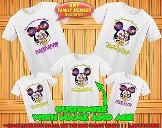 Mickey Minnie Mouse family matching tshirts, birthday Disney family matching custom t-shirts, Family vacation disney shirts, custom Personalized disney shirt, Personalized Disney Shirts for Family,