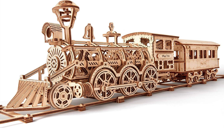 Wood Trick - Locomotora R17 - Puzzle 3D madera - Rompecabezas adultos - Ensamblaje sin pegamento - 405 piezas
