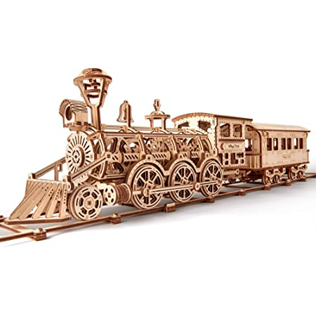 Wood Trick ウッドトリック 機関車R17 自走する3Dウッドパズル / 木製模型