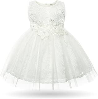e56ebdf9052 CIELARKO Baby Girl Dress Infant Flower Lace Wedding Party Dresses for 0-24  Months …