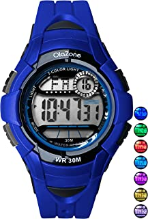 Kids Watches Girls Boys Digital 7-Color Flashing Light...