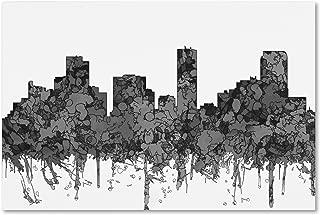 Denver Colorado Skyline BW by Marlene Watson, 22x32-Inch