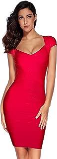 Women's Bandage Dress Square Neck Bodycon Party Dress
