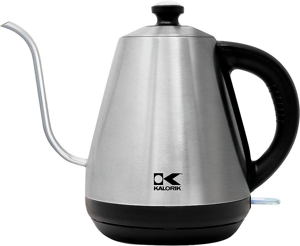 Kalorik Gooseneck Spout JK 44499 SS Pour Over Coffee Tea Precision Water Kettle Stainless Steel