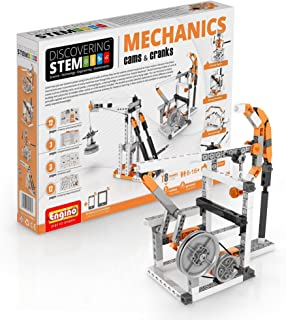 Engino Discovering STEM Mechanics Cams & Cranks | 8 Working Models | Illustrated Instruction Manual | Theory & Facts | Experimental Activities | STEM Construction Kit
