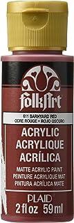 FolkArt Acrylic Paint, Barnyard Red, 2 Ounce