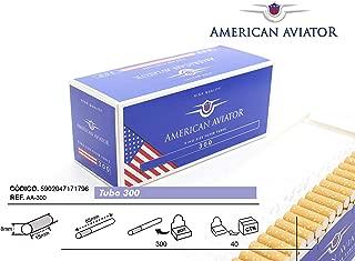 AMERICAN AVIATOR 1500 Tubos Vacíos Extralargo King Size Slim con Filtro de 15mm para Tabaco de Liar (5 cajas de 300), fabricado en EU