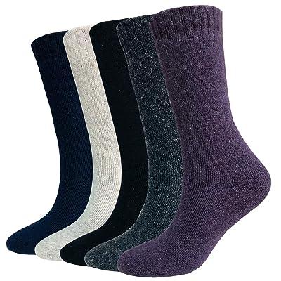 Wool Socks For Women Men 5 Pack-Winter Soft Thi...
