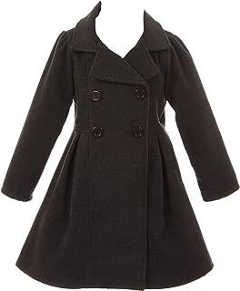 Coat Long Sleeve Button Pocket Long Winter Coat Outerwear