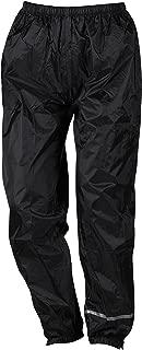 Nerve Easy Rain Pantalones Impermeables de Moto, Negro, L