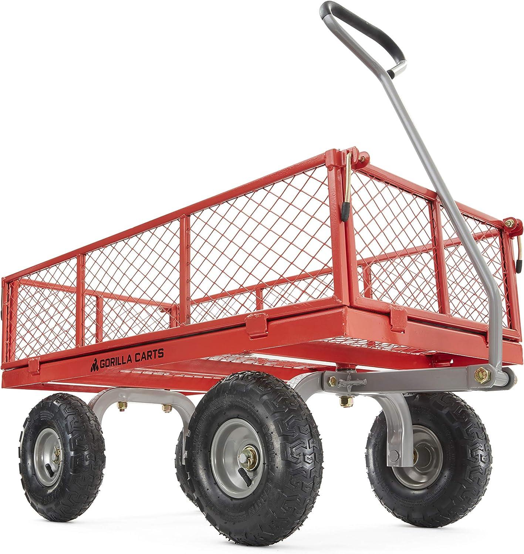 Gorilla Manufacturer direct delivery Carts GOR800-COM Steel Utility Cart Sides Bargain sale Removable with