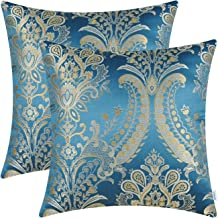 blue damask sofa