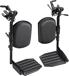 Invacare Wheelchair Elevating Legrests, Composite Footplates, Padded Calf Pads, 1 Pair, T94HCP