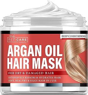 Máscara para el cabello con aceite de argán - Acondicionador profundo para cabello seco dañado, color tratado y blanqueado - Hecho en Estados Unidos - Máscara hidratante para el cabello dañado - Cabello sedoso en 1 uso - 8 fl. oz.