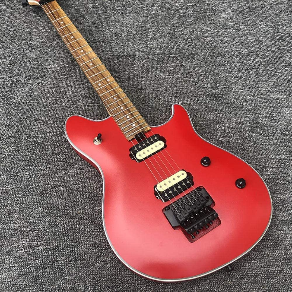 YYYSHOPP Guitarras y Engranajes Guitarra Eléctrica 6 Cuerda De Caoba De Caoba con Maple Mate Rojo Pintura De Guitarra Clásica Guitarras clásicas (Color : Guitar, Size : 40 Inches)