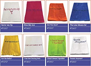 40 Love Courture 16 x 26 Embroidered Tennis Towel 100% Cotton Velour Comes with Grommet and Hook