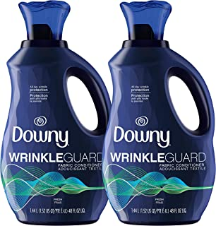 Sponsored Ad - Downy Wrinkleguard Liquid Fabric Conditioner (Fabric Softener), Fresh Scent, 48 Oz Bottles, 2 Pack, Wrinkle...