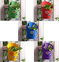 Gadgets Appliances Half Moon Shaped Wall Planter Powder Coated, Rust and Leak Proof - Vertical Planter Multicolour (Set of 5)