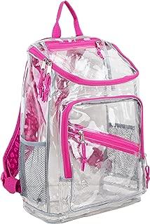 Eastsport Clear Top Loader Backpack, Pink/Marble Dots Print