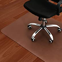 "Dark Cherry Office Chair Mat and Under Computer Desk Pad for Hardwood Floor and Heavy Appliance, Anti-Slip 47x35"" Rectangu..."