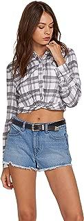 Women's Plaid Taste Long Sleeve Button Up Shirt