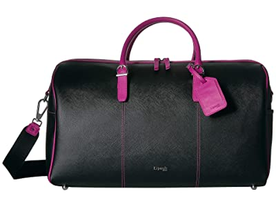 Lipault Paris Variation Duffel Bag (Black/Sweet Fuchsia) Duffel Bags