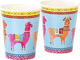 Talking Tables BOHO-CUP-LLAMA Truly Chintz Medium Paper Plates, Papier, Multicolores, 7,5 x 7,5 x 16,5 cm