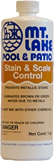 Mt. Lake Pool & Patio Stain & Scale Control, 1 Qt