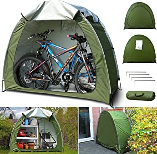 N.thr Bike Covers Storage Shed Tent,Garden Storage Sheds for Outdoor Camping,Upgrade 210D Silver Coated Oxford Cloth & Rei...