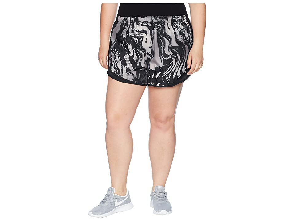 Nike Dry Tempo Print Short (Size 1X-3X) (Black/Black/Black/Wolf Grey) Women