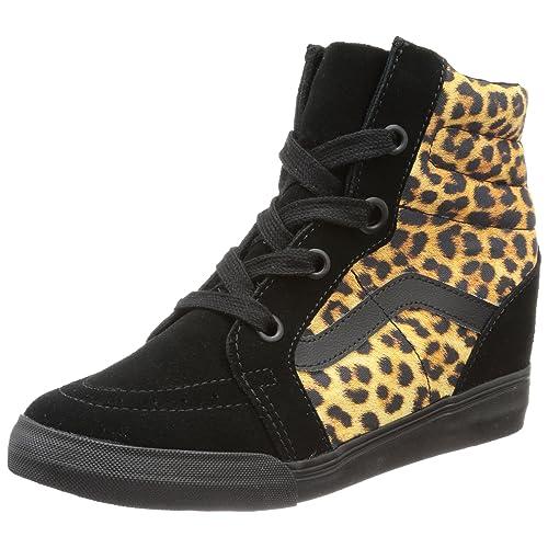ab578625b6 Vans U Sk8-hi Wedge (Leopard) Black