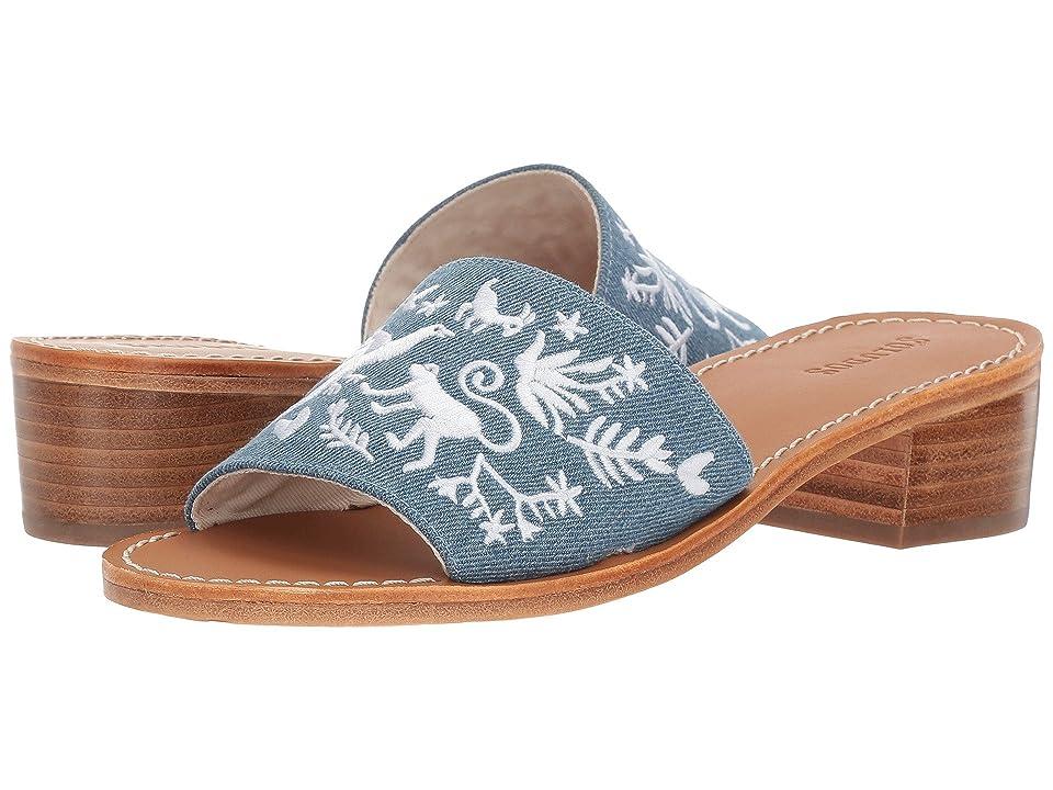 Soludos Otomi City Sandal (Medium Denim) Women
