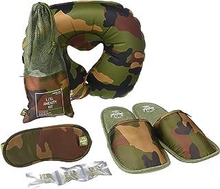 Herschel Travel Amenity Kit-Slippers, Eyemask & Pillow, Woodland Camo
